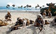 Bilder wie diese von gemeinsamen koreanisch-amerikanischen Truppenübungen südlich von Seoul wird man diesen Sommer nicht sehen. (Bild: Jeon Heon Kyun/EPA; 31. März 2014)