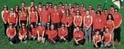 Der STV Oberriet-Eichenwies freut sich über die Note 29,88 seiner Leichtathletinnen und Leichtathleten am Aargauer Kreisturnfest in Würenlos. (Bild: Martin Steger)