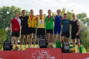 Das Podest der U20-Konkurrenz an den Schweizer Meisterschaften. (Bild: Peter Staub)