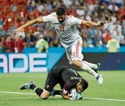 Der Rambo unter den Offensivspielern: Diego Costa. (Bild: Francisco Secoe/AP (Sotschi, 15. Juni 2018)