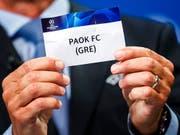 Wird erster griechischer Europacup-Gegner des FC Basel: PAOK Saloniki (Bild: KEYSTONE/VALENTIN FLAURAUD)