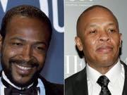 Der Musikproduzent Dr. Dre (r) will das Leben der Soullegende Marvin Gaye (l. 1939-1984) verfilmen. (Archivbilder) (Bild: Keystone)