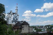 Das «Château Gütsch» soll in drei Jahren mit einem Neubau von heute 32 auf 83 Zimmer ausgebaut werden. (Bild: Boris Bürgisser (Luzern, 18. Juni 2018))