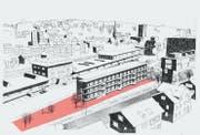 Visualisierung des geplanten Lattich-Baus. (Bild: PD)