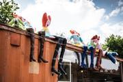 Auch die Schule für Gestaltung und das städtische Jugendsekretariat haben auf dem Areal einen Container gemietet. (Bild: Sabrina Stübi)