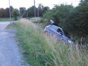 Es entstand kein Schaden am Auto. (Bild: Kapo SG)