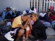 Migranten in Mexiko auf dem Weg an die Grenze zu den Vereinigten Staaten. (Bild: KEYSTONE/AP/REFUGIO RUIZ)