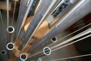 Das Klangspiel Toggenburger Einklang mit 32 Klangröhren ist eines der beiden neuen Instrumente auf dem Klangweg zwischen Wildhaus Oberdorf und der Alp Sellamatt.