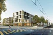 Am heutigen Standort der Raiffeisenbank in Münchwilen werden das neue Bankengebäude und ein Wohnhaus entstehen. (Bild: PD/Raiffeisenbank Münchwilen-Tobel)
