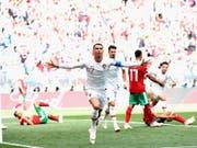 Cristiano Ronaldo läuft es bislang in Russland (Bild: KEYSTONE/EPA/PETER POWELL)