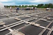Verbunden mit viel Arbeit und Kosten wurde die Fotovoltaik-Anlage optimiert. (Bild: Markus Bösch)