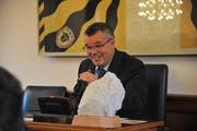 Der neue Landratspräsident Peter Tresch. Bild: Urs Hanhart (Altdorf, 20.06.2018)