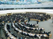 Der Uno-Menschenrechtsrat in Genf - Die USA ernten für ihren Ausstieg aus dem Gremium weltweit Kritik. (Bild: KEYSTONE/SALVATORE DI NOLFI)