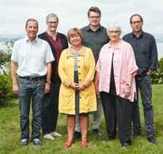 Die Nominierten der CSP (von links): Carlo Lusser, Barbara Müller-Hoteit, Vroni Straub, Martin Iten, Monika Mathers-Schregenberger und Ignaz Voser. (Bild: PD)