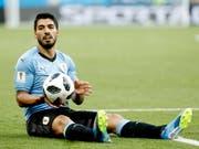 Luis Suarez krönte sein 100. Länderspiel mit einem Tor und qualifizierte sich mit Uruguay für die Achtelfinals (Bild: KEYSTONE/EPA/SHAWN THEW)