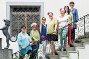 Das Organisationskomitee des «Langen Tischs»: Verena Looser, Lotti Schwendener, Violeta Shala, Zora Debrunner, Angela Zahner, Marianne Glosse und Mirjam Hadorn (von links). (Bild: Sascha Erni)