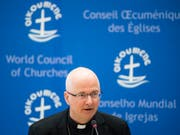 «Ich habe gute Gründe, daran zu glauben, dass wir am Ende nicht mit Schulden da stehen werden». Das sagt Charles Morerod, Bischof des Bistums Lausanne, Genf und Freiburg. (Bild: Keystone/JEAN-CHRISTOPHE BOTT)