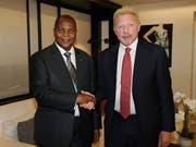 Der einstige Tennis-Star Boris Becker (rechts) beharrt auf der Korrektheit seines Diplomatenstatuses für die Zentralafrikanische Republik bei der EU. (Bild: KEYSTONE/AP Irle Moser Rechtsanw'lte PartG)
