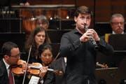 Der Oboist Andrey Cholokyan stach unter den Solisten besonders heraus. (Bild: Philipp Schmidli, Luzern, 19. Juni 2018)