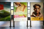 Das Plakat zur Kampagne der Alternative-die Grünen. Die Partei legt ihr Wahlbudget und die Interessenbindungen offen. (Bild: Stefan Kaiser (Zug, 18. Juni 2018))