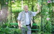 OK-Präsident Bernhard Bischof im Barocken Rosengarten. (Bild: Andrea Stalder)