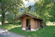Neben dem Golfplatz Engelberg ist ein neues Blitzschutzhaus geplant. Im Bild das bestehende. (Bild: Corinne Glanzmann (Engelberg, 19. Juni 2018))