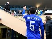 Alain Rochat nimmt Abschied von Lausanne und vom Profifussball (Bild: KEYSTONE/LAURENT GILLIERON)