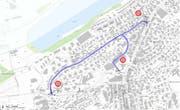 Auf der Libellen- und Weggismattstrasse in der Stadt Luzern gilt ab dem 25. Juni ein Fahrverbot. (Grafik: PD)