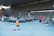 Unihockey auf dem Arena-Platz in Zug. (Bild: PD)