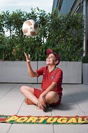 Fussballspielen ist das Grösste für Ruben Tinoco. (Bild: Maria Schmid (Baar, 15. Juni 2018))
