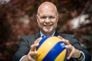Marko Klok gehörte einst dem erfolgreichen Nationalteam der Niederlande an. In der Saison 2018/19 wird er neu das NLA-Team von Volley Amriswil trainieren. (Bild: Reto Martin)