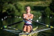 Salome Ulrich während ihres Trainings, aktuell auf dem Rotsee. Bild: Dominik Wunderli (19. Juni 2018)