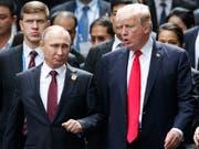 US-Präsident Donald Trump und der russische Präsident Wladimir Putin wollen sich ein weiteres Mal treffen. (Bild: KEYSTONE/AP Reuters Pool/JORGE SILVA)