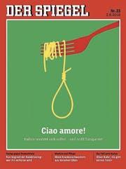 Umstrittenes «Spiegel»-Titelbild: Ein auf einer Gabel aufgewickelter Spaghetto, der eine Henkerschlaufe bildet.