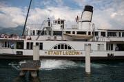 Wird ab Herbst drei Jahre lang saniert: Dampfschiff «Stadt Luzern». (Bild: Dominik Wunderli (Beckenried, 8. Juni 2018))
