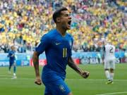 Erlöste Brasilien im Duell mit Costa Rica mit dem 1:0 in der Nachspielzeit: Philippe Coutinho (Bild: KEYSTONE/AP/PETR DAVID JOSEK)