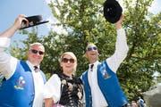 Freude herrscht: Teilnehmer am 62. Zentralschweizerischen Jodelfest. (Bild: Eveline Beerkircher (Schötz, 23. Juni 2018))