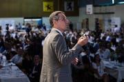Bundesrat Ignazio Cassis an der Delegiertenversammlung der FDP vom Samstag in Airolo. (Gabriele Putzu/Keystone)