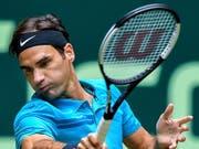 20. Sieg in Serie von Roger Federer auf Rasen (Bild: KEYSTONE/EPA/SASCHA STEINBACH)