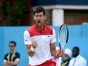Novak Djokovic hat allen Grund zur Freude (Bild: KEYSTONE/EPA/NEIL HALL)