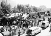 Am 24. Juni 1968 kollidierte ein Sonderzug mit 270 Passagieren mit einem Güterzug – dabei starben zwölf Menschen. (Bild: Philippe Schmid, Médiathèque Vailais)