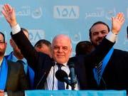 Der bisherige Regierungschef im Irak, Haider al-Abadi, hat am Samstag nach wochenlangen Verhandlungen eine Allianz angekündigt. (Bild: KEYSTONE/AP/HADI MIZBAN)
