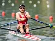 Michael Schmid ruderte erneut auf den 2. Platz (Bild: KEYSTONE/ALEXANDRA WEY)