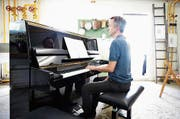 Daniel Steffen war einer der 16 beteiligten Pianistinnen und Pianisten. Bild: Stefan Kaiser (Zug, 23. Juni 2018)