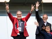 Verteidigte die Aktion von Granit Xhaka und Xherdan Shaqiri: Sportminister Guy Parmelin (Bild: KEYSTONE/LAURENT GILLIERON)