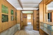 Katalin Deér richtete ihre Installation «Castasegna Verde Grün» in einem alten hölzernen Pavillon ein. (Bilder: Ralph Feiner, 2018 ProLitteris Zürich)