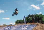 Das Motocross in Braunau sorgte am Wochenende für viel Spektakel. (Bild: Christoph Heer)