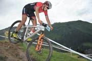 MTB-SM in Andermatt. Alessandra Keller gewann in der U23-Kategorie der Frauen die Goldmedaille