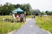Der neue Landschaftspark im Friedental wurde am Sonntagmorgen offiziell eröffnet. Bild: Manuela Jans-Koch (24. Juni 2018)