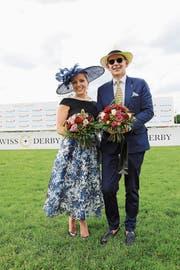 Die beiden Bestgekleideten: Claudia Felber aus Ermatingen und Konstantin Ioannidis aus Rüschlikon. (Bild: Chris Marty/frauenfeld-event.ch)